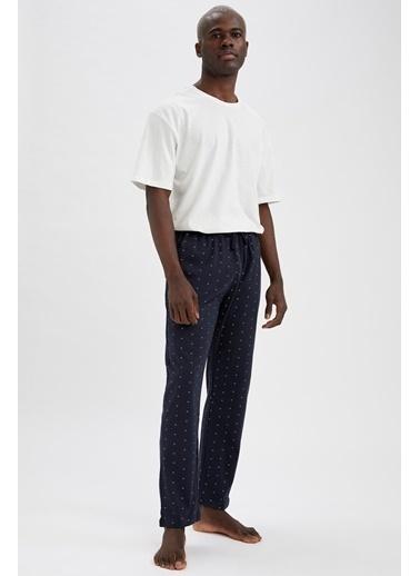 DeFacto Regular Fit Desenli Pijama Altı Lacivert